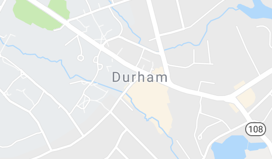 Map of Durham, NH