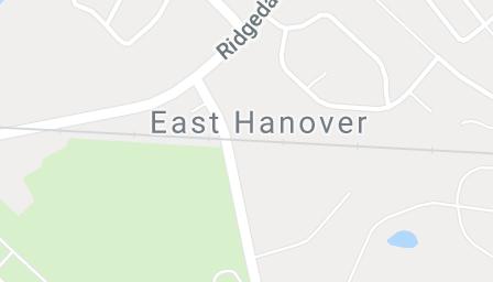 Map of East Hanover, NJ