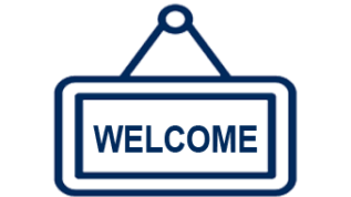 Welcome Sign icon