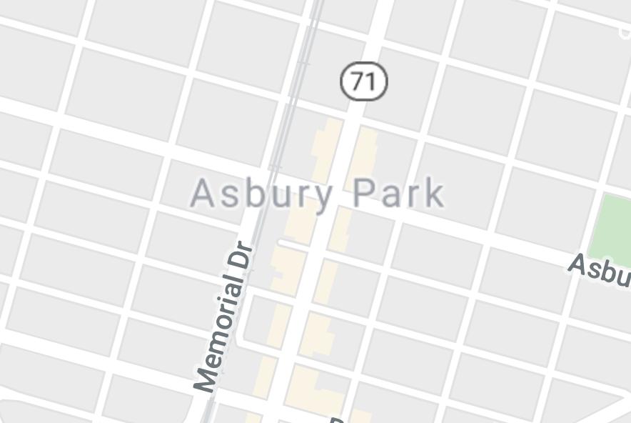 Map of Asbury Park, NJ