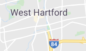 Map of West Hartford, CT