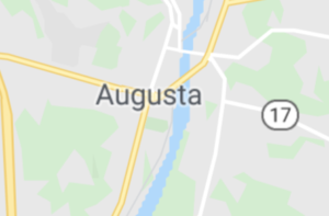 Map of Augusta, ME