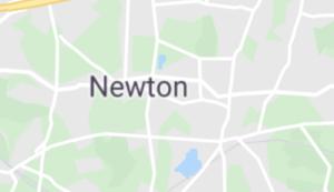 Map of NewtonMap of Newton, MA