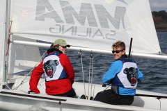 Two students sailing