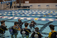 Students get to practice scuba diving in our Wallace Pool