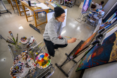 Our students create masterpieces that often go on display at Lord Hall