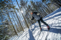 We have over 15 miles of trails out behind campus to run, cross-country ski, or snowshoe on!